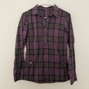 Kuhl XS Plaid Button Cuff Popover Collared Shirt